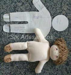 Doll tutorial come fare una pigotta from my diy word – ArtofitPattern and DIY to make a rag doll - Free patterns - Top Diy ProjectsFinally, bend up the foot and stitch across the top to the leg. Stab stitch the joint at the hips, and your doll body Doll Patterns Free, Doll Sewing Patterns, Sewing Dolls, Doll Clothes Patterns, Free Pattern, Sock Dolls, Felt Dolls, Baby Dolls, Doll Toys