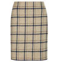 Beige Tiffany Check Skirt | Casual Skirts | Skirts | Hobbs