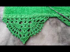 Barred Crochet Career Single Step by Step - toalha Crochet Edging Patterns, Crochet Borders, Crochet Designs, Knitting Patterns, Crochet Cord, Filet Crochet, Crochet Lace, Crochet Decoration, Knitted Headband