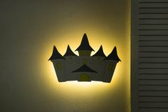 Castle nursery wall lights Nightlight for Baby Room Castle | Etsy Cloud Night Light, Nursery Night Light, Water Based Acrylic Paint, Night Lamps, Room Wall Decor, Baby Room, Kids Room, Wall Lights, Glow