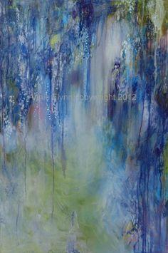 Wisteria Etude in Blue by annieflynn1 on Etsy