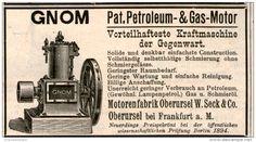 Original-Werbung/Inserat/ Anzeige 1894 - GNOM. PETROLEUM & GAS-MOTOR - ca. 90 X 50 mm
