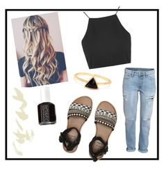 """"""""""" by noypint ❤ liked on Polyvore featuring Billabong, H&M, Topshop, Essie, Sheinside, shop, PolyvoreMostStylish and allhqfashion"""