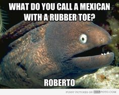 What do you call a Mexican with a rubber toe?