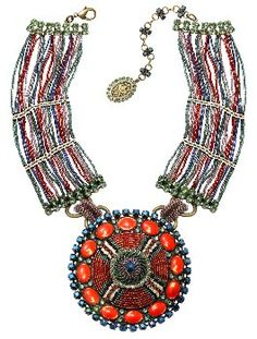image for necklace collier African Glam multi/green