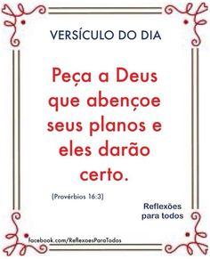 Acesse este e outros versículos, reflexões... (clique na imagem) #Versiculo