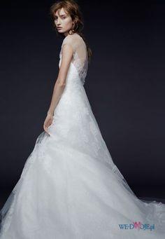 suknia ślubna Vera Wang transparentna #polkipl