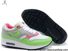 Discount Womens White Electric Green Neutral Grey Pink Nike Air Max 1 308866-100 Newest Now