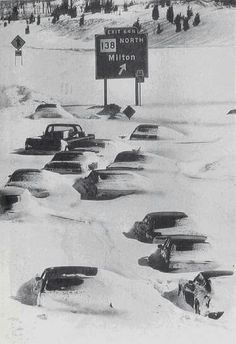 """Blizzard of - [A web-photo of the highway south of Boston, Massachusetts after the Great Blizzard of It began in the area on February 6 courtesy of italiangerry (Gerry D. Winter Szenen, I Love Winter, Winter Storm, Ice Storm, Snow Scenes, Snow And Ice, Royal Enfield, Historical Photos, West Virginia"