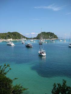summer in pictures / Lakka harbour - Paxos,Greece Villas In Corfu, Santorini Villas, Beautiful Islands, Beautiful Beaches, Corfu Beaches, Paxos Greece, Paxos Island, Myrtos Beach, Myconos