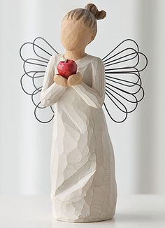 Willow Tree Angels - You're the Best Willow Tree Angel with Red Apple