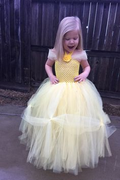 Belle Tulle Dress, princess belle ball gown, yellow tutu dress, Disney princess dress, tulle tutu dress, girls tulle dress, princess tutu by CoutureTutusForYou on Etsy