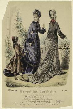 """""""Modes de Paris"""", Journal des Demoiselles et Petit Courrier des Dames, March 1876; NYPL 804085"""