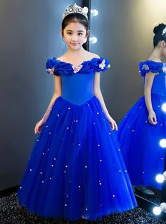In Stock:Ship in 48 hours Blue Off The Shoulder Tulle Girl Dress In Stock:Ship in 48 hours Blue Off The Shoulder Tulle Girl Dress,cenicienta In Stock:Ship in 48 hours Blue Off The Shoulder Tulle. Princess Flower Girl Dresses, Princess Dress Kids, Flower Girls, Princess Style, Girls Frock Design, Baby Dress Design, Baby Frocks Designs, Kids Frocks Design, Kids Gown Design