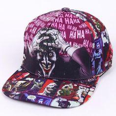 best service 72db2 467f8 The Joker Brand Cotton Snapback Hip Hop Cap Hat Fashion Casual Batman  Baseball Cap Hats For Men Women