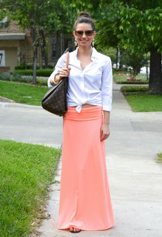 coral maxi skirt  bishop&holland | a lifestyle blog