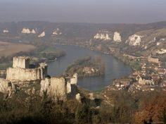 Chateau Gaillard and River Seine, Les Andelys, Haute Normandie (Normandy), France Photographic Print by John Miller at AllPosters.com