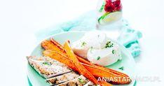 Pierś kurczaka, purée selerowe i marchewka | Ania Starmach
