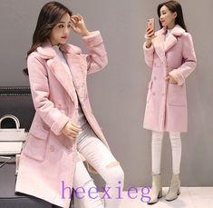 435016d289e Winter 2017 new style Lambswool Suede Jacket Thicken Coat Warm Long Sleeve  Jacket Women autumn female Long Overcoat