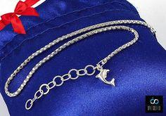 Bransoletka na nogę DELFIN srebro pr 925 27cm