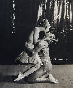 Alice Nikitina &Serge Lifar in the ballet La Chatte  1927