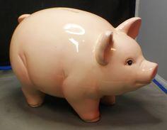 Piggy Bank Ceramic Vintage 1960s