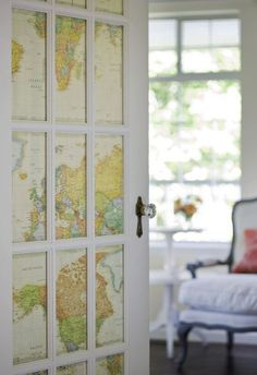 30 World Map Decorating Ideas | DesignDiPassione