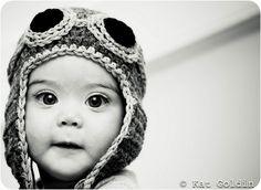 children's copilot aviator earflap hat crochet pattern -- MUST TRY!!