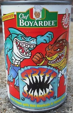 Chef Boyardee Street Sharks Pasta | 19 Cartoon-Themed Foods And Snacks From The '90s You Might Not Remember