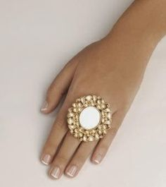 Jadau Arsi or mirror ring