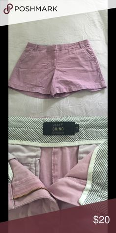 "JCrew Classic 4"" Mauve Chino Short JCrew cotton classic 4"" chino in mauve size 12 excellent condition J. Crew Shorts"