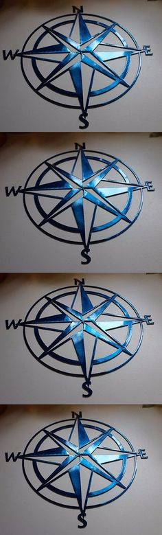 Wall Sculptures 166729: Nautical Compass Rose 36 Wall Art Decor Metallic Blue -> BUY IT NOW ONLY: $115.99 on eBay!