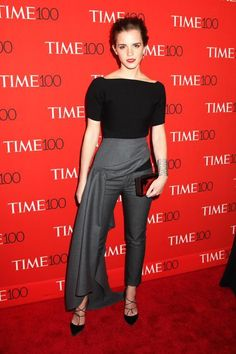 Forget Mullet Skirts: Meet Emma Watson's Skrillex Skirt #refinery29  http://www.refinery29.com/2015/04/86114/emma-watson-dior-outfit-time-100-red-carpet-pictures