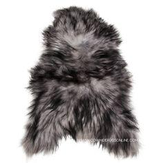 Icelandic Sheepskin Rug, Charcoal Icelandic Sheepskin, Charcoal Sheepskin Rug, Grey Spotted Icelandic Sheepskin Rug, Icelandic Sheepskin,