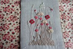 Meadow Flowers in simple stitches