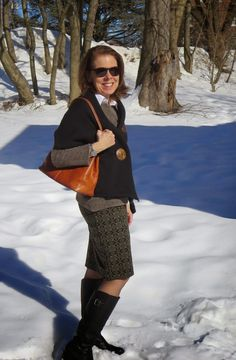 My mission: To find fashion for women over 50 that exudes sophistication, energy, and a continued sense of wonder. Spring Handbags, It's Snowing, Over 50 Womens Fashion, Knee High Boots, New Day, New Outfits, Blues, Winter, How To Wear