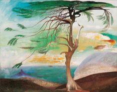 The Lonely Cedar, Tivadar Kosztka Csontvary, Big tree painting art print, Antique Nature wall art, S Budapest, Seaside Decor, Post Impressionism, Antique Paint, Big Tree, Art Database, Thing 1, Fine Art Paper, Oil On Canvas