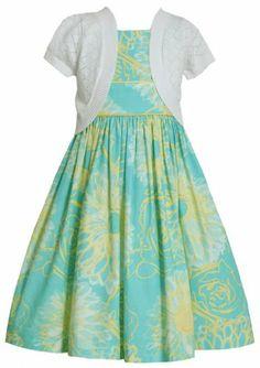 * GIRL PLUS SIZE DRESS * Aqua-Blue Yellow Floral Print Dress/Jacket Set AQ8HM, Aqua, Bonnie Jean Girl Plus Bonnie Jean,http://www.amazon.com/dp/B00HWK73P6/ref=cm_sw_r_pi_dp_TYt2sb0SK56JQVZD