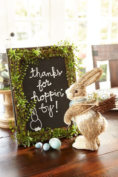 Write. Erase. Repeat. The list of things you can do with Pier 1's faux greenery-trimmed chalkboard is nearly endless. Wish everyone a happy Easter. Post a to-do list for the family. Present the menu to guests at your patio party. Even leave a note for yourself.