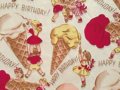 Vintage Wrapping Paper  Ice Cream Parlor by TheGOOSEandTheHOUND, $6.00