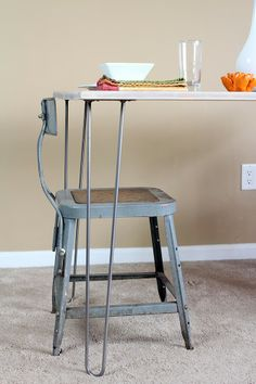 A Clothes Call: DIY IKEA HACK: Mid-century Modern Dining Room Table Anleitung