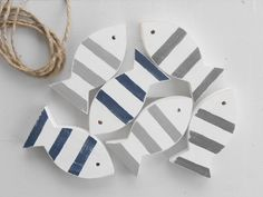 Striped Fish  Nautical Home Decor by TheSeasideCompany on Etsy, $30.00