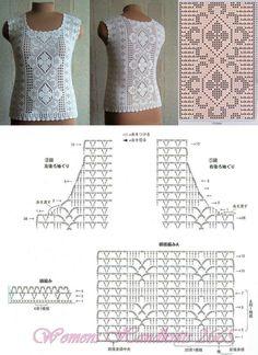 Crochet Filet Vest