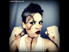 ▶ Bride Of Frankenstein Makeup Costume (Halloween Makeup Tutorial 2013) (Rick Baker Monster's Bride) - YouTube