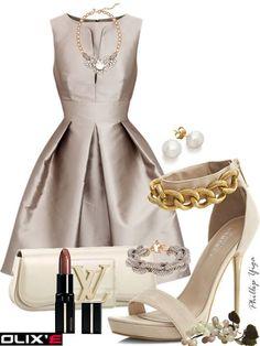 Satin dress outfit
