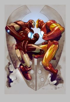 Les illustrations de lartiste Ryan Benjamin (Iron Man)