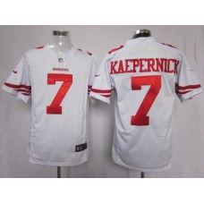 bc47bd07d Nike Mens San Francisco 49ers Colin Kaepernick Jersey 7 Game Team Color  White Football Jerseys