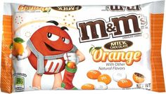 Gotta get me some of these - Bag of Orange Milk Chocolate M's M M Candy, Best Candy, Favorite Candy, I Love Chocolate, Chocolate Orange, Chocolate Flavors, Ariel Cake, Hershey Syrup, Peanut Candy
