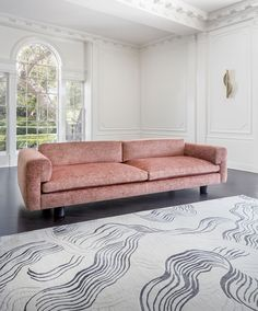 Facts, Fiction and Velvet Sofa All sofas include a 1 year factory gaurantee. For instance, if the sofa will stand before a huge window, you can want o. Nate Berkus, Kelly Wearstler, Plywood Furniture, Industrial Furniture, Office Furniture, Most Luxurious Hotels, Pink Sofa, Living Spaces, Living Room