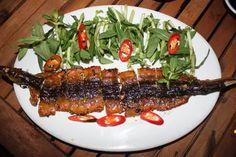 Lươn nướng lá chanh